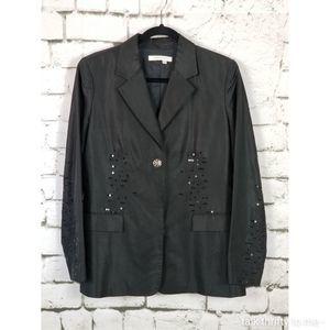MAGASCHONI | Sequined Silk Blazer Size 10